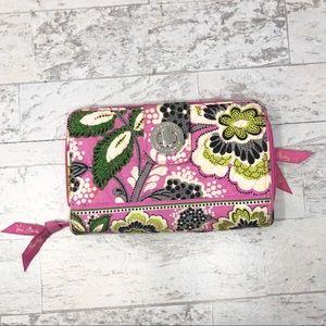 Vera Bradley Iconic RFID Turnlock Floral Wallet